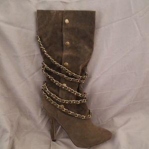Braker Brand mid calf tall boot